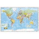 Stiefel Wereldkaart, politiek, met metalen frame (Engels)