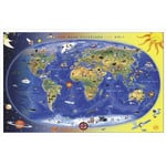 Stiefel Mapa para crianças Children's world map - Max and Maxi Discover The World (in German)