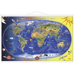 Stiefel Children's World Map - Max and Maxi Discover the World (in German), with metal strip