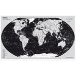 Stiefel Mapamundi Map of the world, Silver Edition