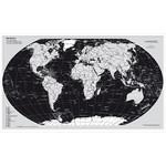 Stiefel Wereldkaart, zilveren editie, met metalen frame (Engels)