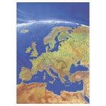 Carte des continents Stiefel Panorama Europe en anglais