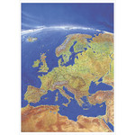 Stiefel Mapa continental Panoramic map of Europe