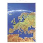 Carte des continents Stiefel Panorama Europe avec cadre en métal,  en anglais