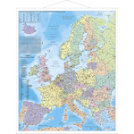 Stiefel Mapa de continente Map of Europe with metal strip
