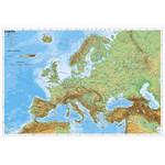Carte des continents Stiefel L'Europe physiquement