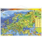 Stiefel Junior map of Europe (in German) with metal strip