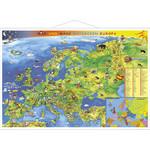 Stiefel Junior map of Europe (in German) with metal strip