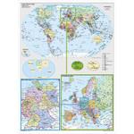 Stiefel Landkarte Deutschland und Europa in der Welt