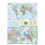 Stiefel Mappa Germania e Europa nel mondo, con profili in metallo (in tedesco)
