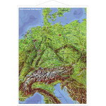 Stiefel Mappa Paesi di lingua tedesca, panoramica con profili in metallo (in tedesco)