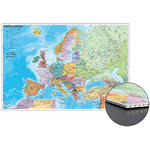 Carte des continents Stiefel Pays européens sur panneau alvéolaire à épingler