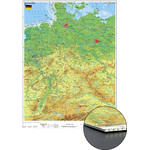 Stiefel Alemania, mapa físico sobre cartón de nido de abeja para clavar
