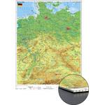 Stiefel Mappa Germania, carta fisica su pannello tamburato (in tedesco)