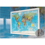 Stiefel World map on acrylic glass (in German)