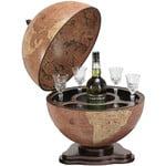 Zoffoli Bar em globo Desktop globe with drinks compartment, Galileo Rust