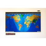 Geochron Original Kilburg wereldkaart, uitvoering in echt elzenhout, wit, met goudkleurige sierlijst (Engels)