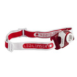 LED LENSER SEO5 head lamp, red