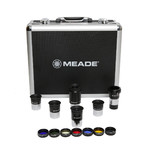 "Meade S 4000 1.25"" eyepiece set, 5 eyepieces, Barlow, filters and carrying case"