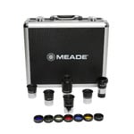 "Meade Series 4000 1.25"" eyepiece set, 5 eyepieces, Barlow, filters and carrying case"