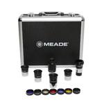 """Meade Set oculari Series 4000 1,25"""", 5 oculari, lente di Barlow, filtro e valigetta di trasporto"""