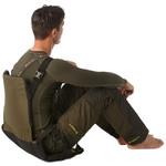 Stealth Gear Zitkussen met rugleuning, vouwbaar, groen