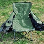 Beim Jubiläumsmodell ist der Stuhl grün, statt in tarnfarben.