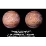 Photo de Mars prise avec une Touptek GCMOS01200KPA et un réfracteur 10