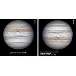 Jupiter proche de l'horizon. Enregistrement avec la GCMOS01200KPB et un ADC.