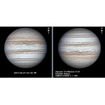 Secuencia de capturas de Júpiter con la cámara Touptek 1200KPA y un telescopio de 10