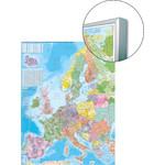 Stiefel Mapa kodów pocztowych Europy na płycie do wpinania, magnetyczna