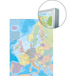 Stiefel Mapa continental Europe organizational map, for pinning to