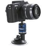 In stehender Position auch stabil genug für Systemkameras.