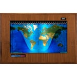 Geochron Boardroom model physical map in real walnut veneer design and black trim