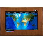 Geochron Harta fizica, model sala de consiliu, in lemn de nuc veritabil si margine de culoare neagra