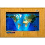 Geochron Boardroom model in real honey-oak wood veneer design and silver coloured trim