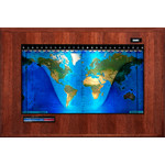Geochron Boardroom Modell physisch in Hickory Echtholzfurnierausführung und schwarzen Zierleisten