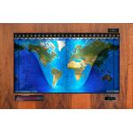 Geochron Original Kilburg physical map in real Hickory wood veneer finish and black trim