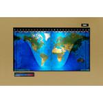 Geochron Original Kilburg physical map in gold anodized aluminium and black trim