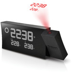 Oregon Scientific Estación meteorológica inalámbrica Prysma BAR 223P projection alarm clock with weather forecaster, black