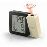 Oregon Scientific Réveil projecteur radio piloté + météo PROJI-BAR 368P Crème