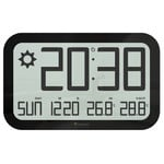 Oregon Scientific Estación meteorológica inalámbrica JUMBO JW 108  radio wall clock, black