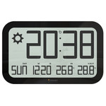 Oregon Scientific Wireless weather station JUMBO JW 108  radio wall clock, black