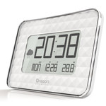 Oregon Scientific Estação meteorológica sem fio JUMBO JW 208 radio wall clock, white