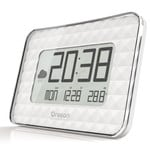 Oregon Scientific Wireless weather station JUMBO-Funkwanduhr JW 208 White