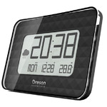 Oregon Scientific Estación meteorológica inalámbrica Radiorreloj de pared GLAZE JUMBO JW 208, negro