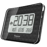 Oregon Scientific Wireless weather station JUMBO JW 208 radio wall clock, black