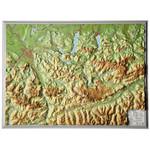 Georelief Regional-Karte Salzkammergut klein, 3D Reliefkarte