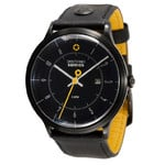 DayeTurner SEIRIOS men's analogue watch, black leather strap