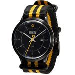 DayeTurner SEIRIOS Zegarek analogowy męski, czarny, pasek nylonowy czarny/żółty